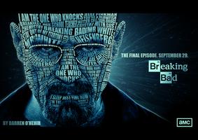 Breaking Bad Heisenberg Portrait Typography by darrenOhhh