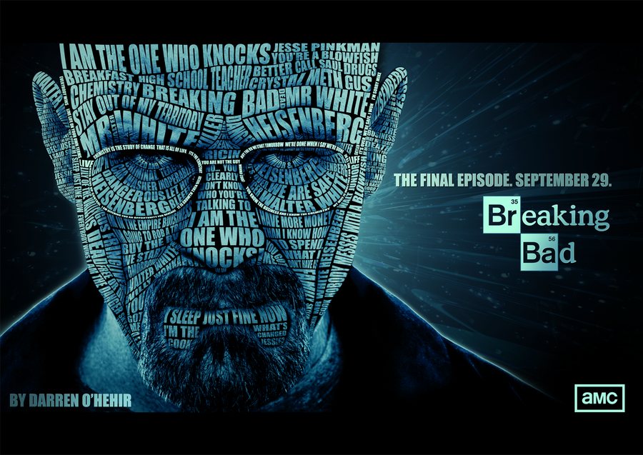 Breaking Bad Heisenberg Portrait Typography by darrenOhhh