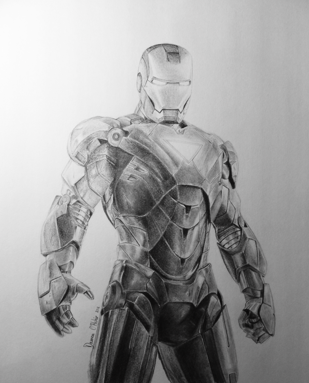 Iron Man Drawing by darrenOhhh