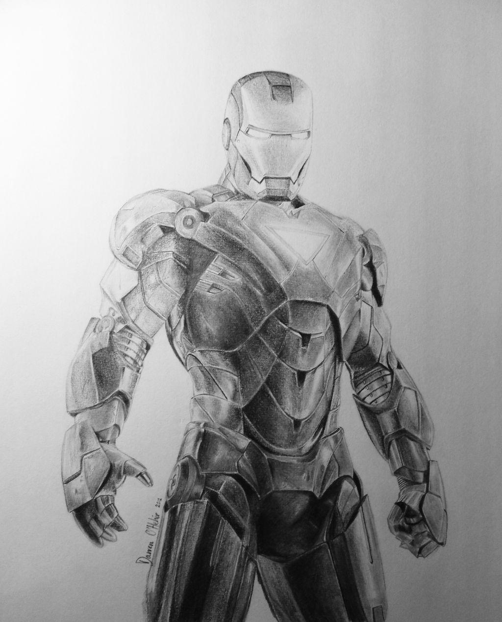 Iron Man Drawing by darrenOhhh on DeviantArt