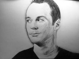 Sheldon Cooper Big Bang Theory Drawing by darrenOhhh