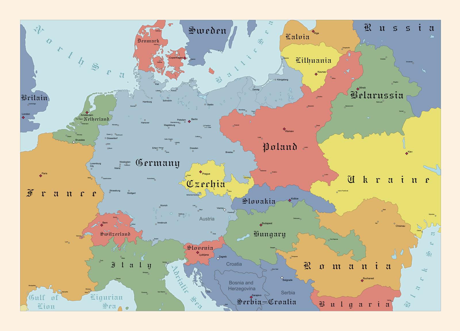 Ethnic Europe 1918 by FlammenderStahl on DeviantArt
