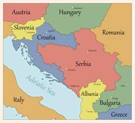 Modern Alternate Balkans by FlammenderStahl