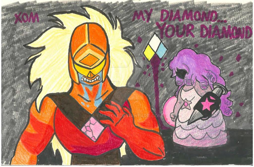 pink diamond by emilxom on deviantart