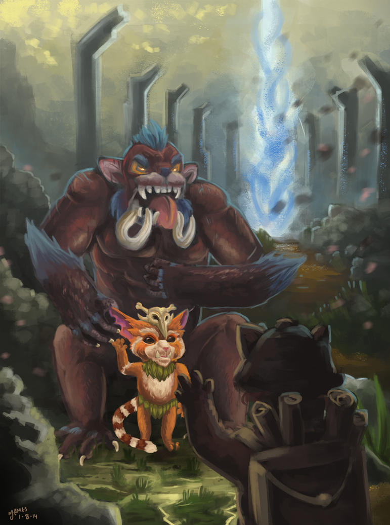LoL Gnar Fanart by marshang on DeviantArt