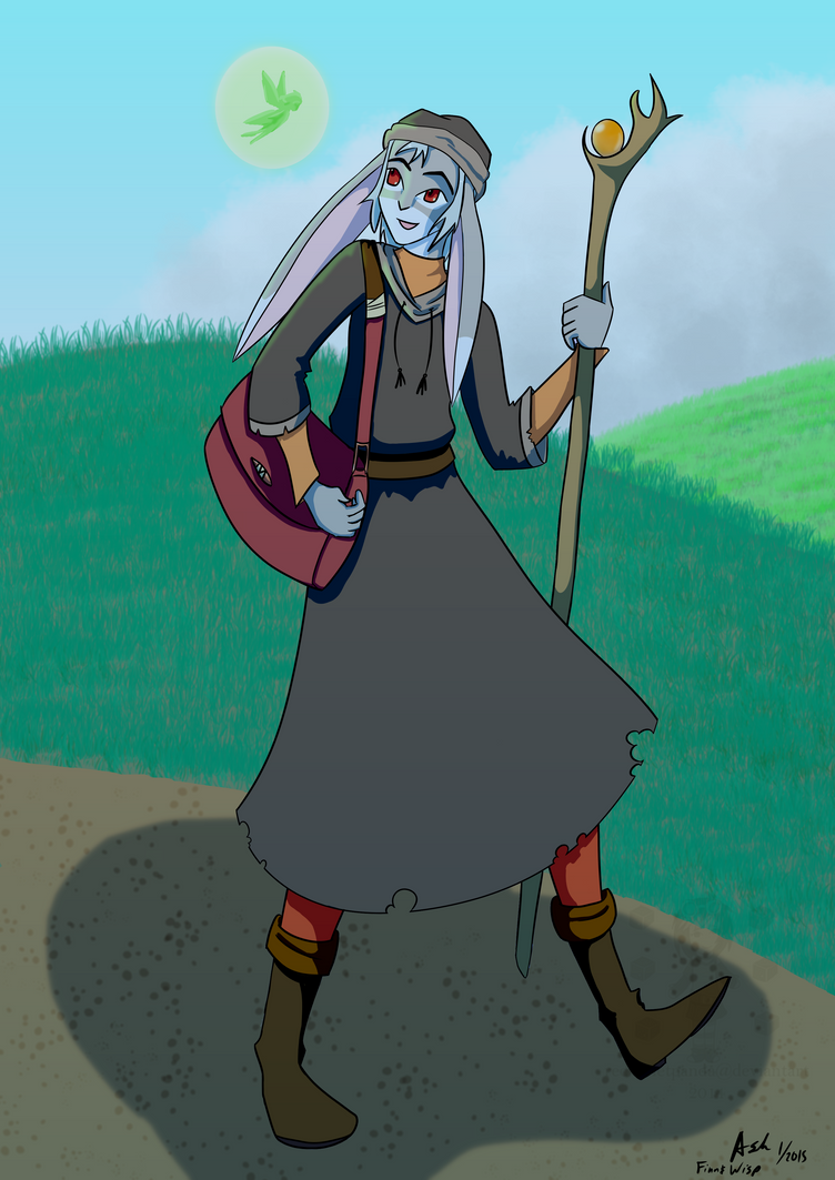 The Mage goes for a stroll by RedVioletPanda