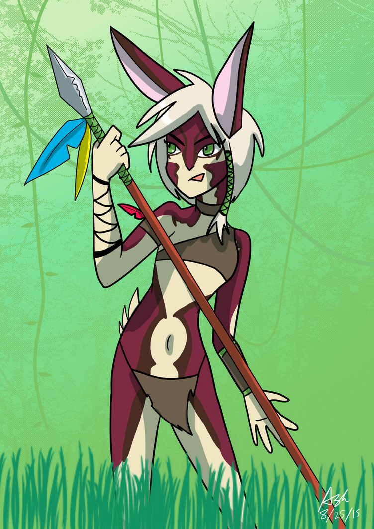Annamite Striped Rabbit by RedVioletPanda