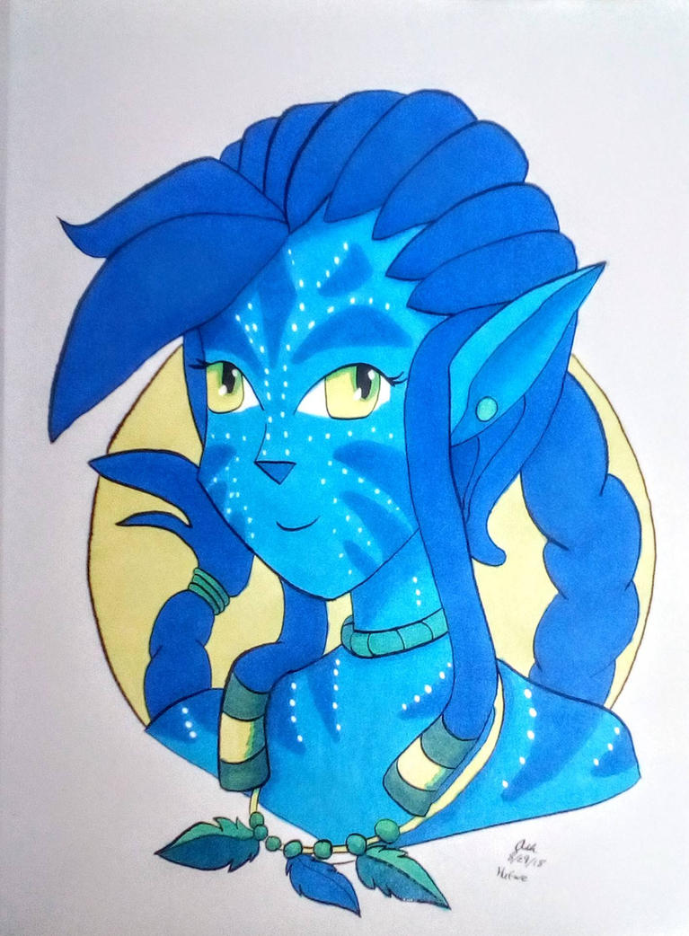 CopicColors August: Na'vi by RedVioletPanda