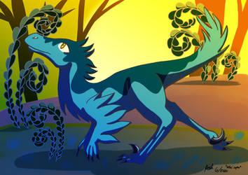 Jurassic June Velociraptor