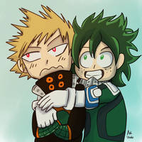 Draw the Squad: Bakugou and Deku