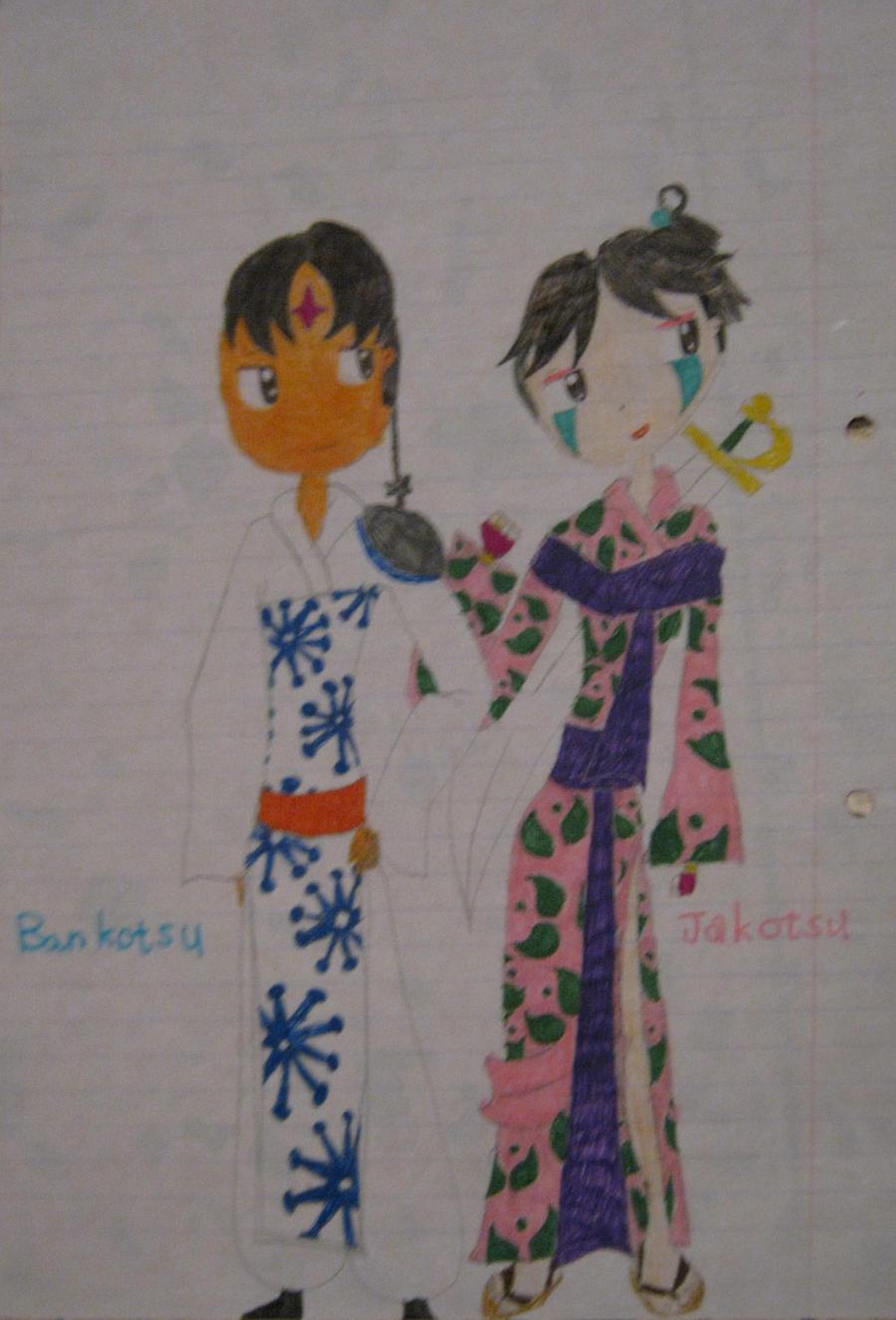 Jakotsu and Bankotsu by EnvitChan