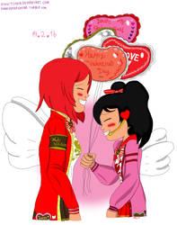 Valentine's day Nicomaki by EnvitChan