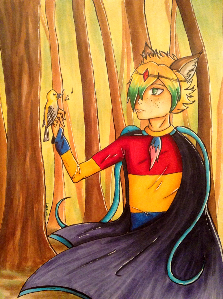 [Art Trade] The voice of the Bird by darkness1247