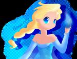 Elsa anime colored