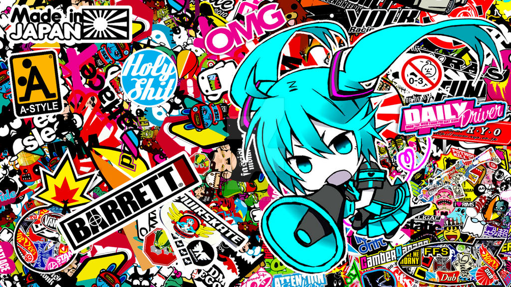 sticker bomb wallpaper cartoon - photo #31