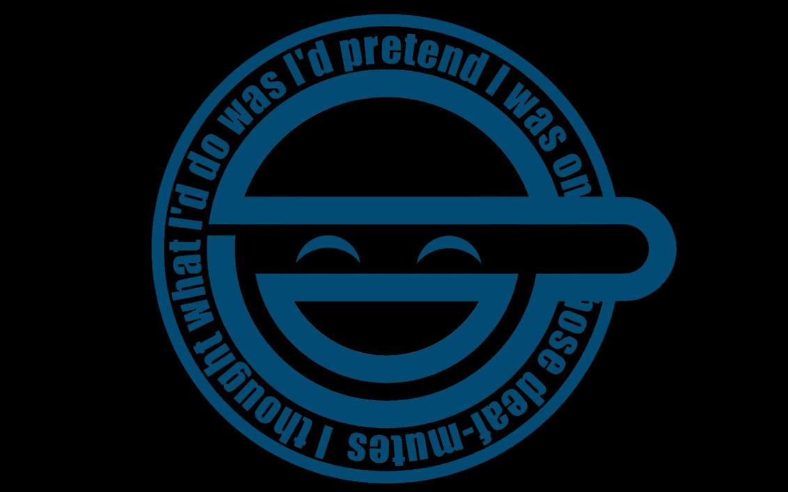 Laughing Man Logo Variation By Seniortwinkie