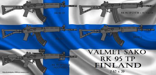 Finnish Valmet SAKO RK-95 TP rifle family