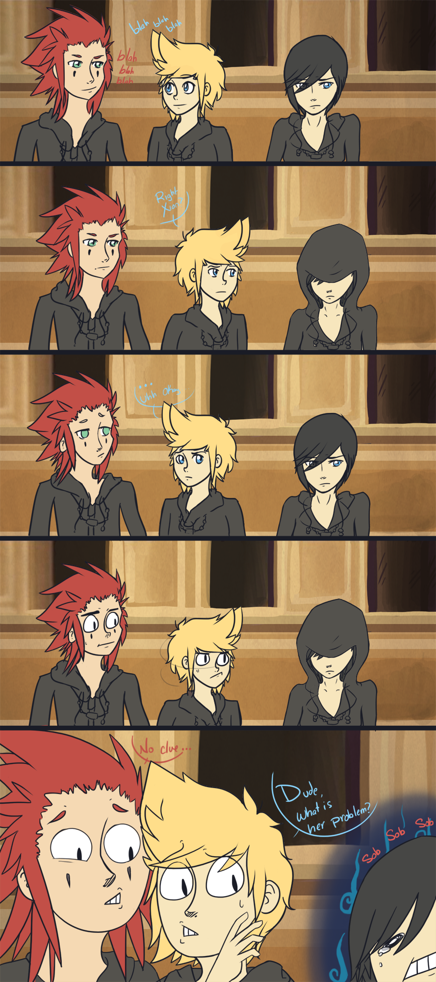 Xion And Roxas Comic