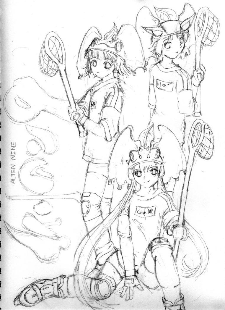 alien9 preliminary sketch by chisana