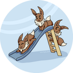 Playful Eevees
