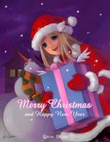 merry christmas by elisetrinh