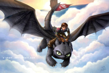 Hiccup and Toothless 2