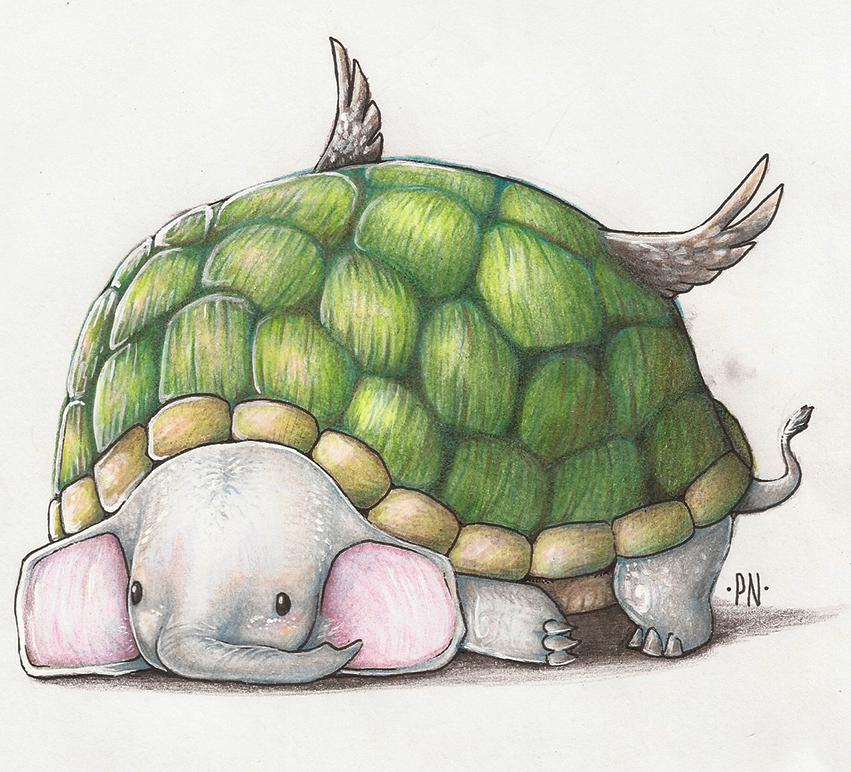 Elephant Turtle Hawk by Geheimnis19