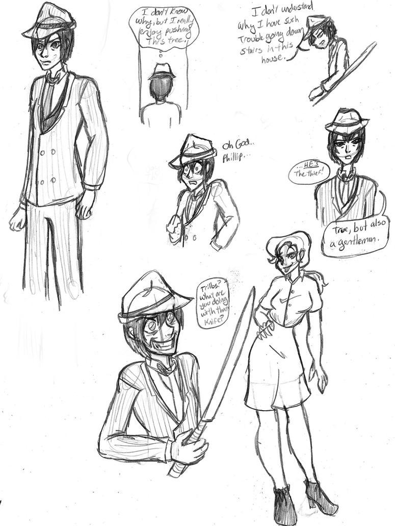 5DaS Trilby Sketches by MagickLorelai