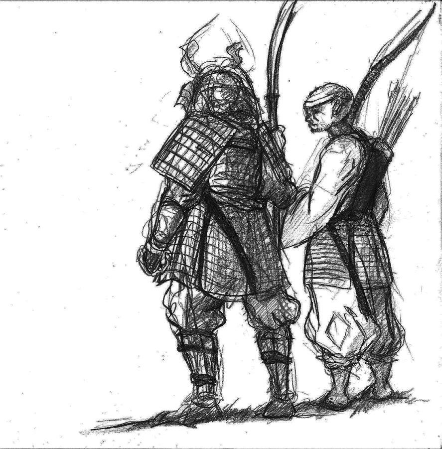 A Samurai And Warrior Monk