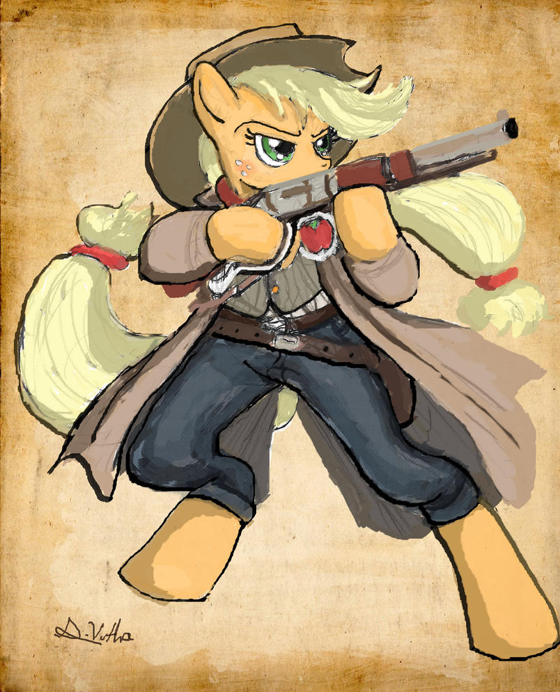 applejack___sheriff_by_thelivingshadow-d