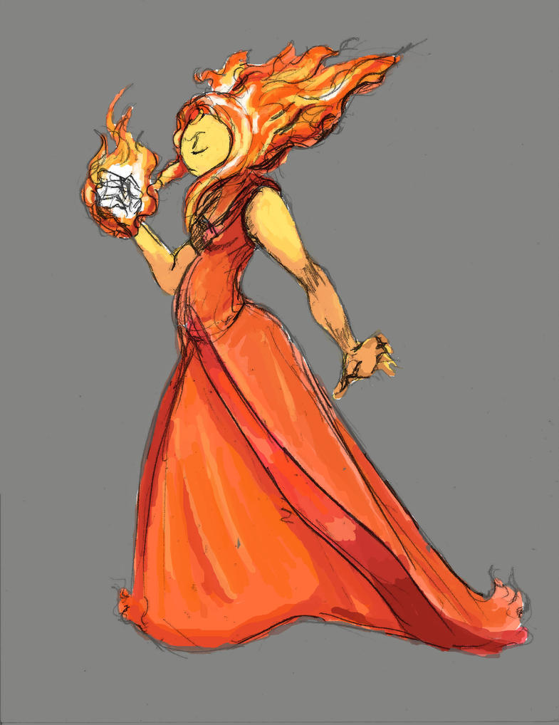 Flame Princess by TheLivingShadow