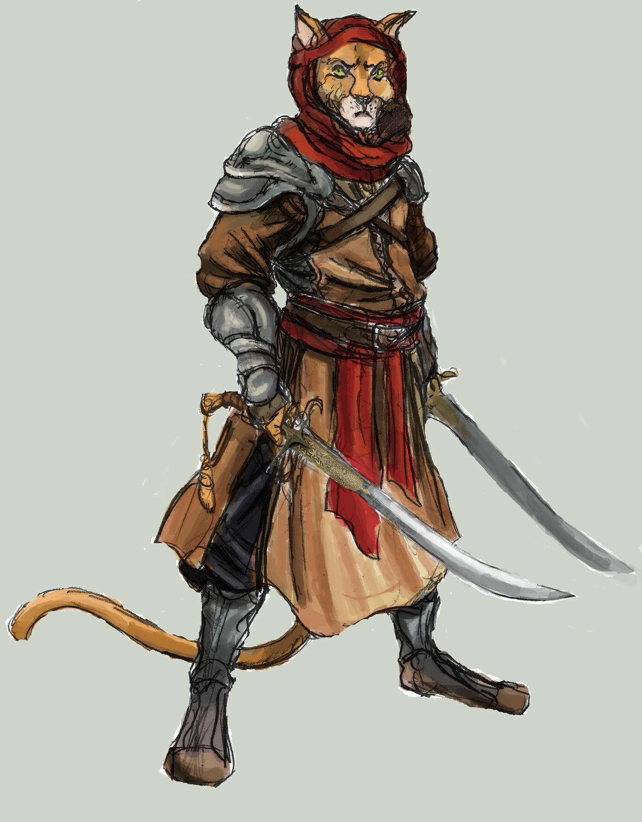 Arabian Cat Warrior - Medieval Era by TheLivingShadow on ...