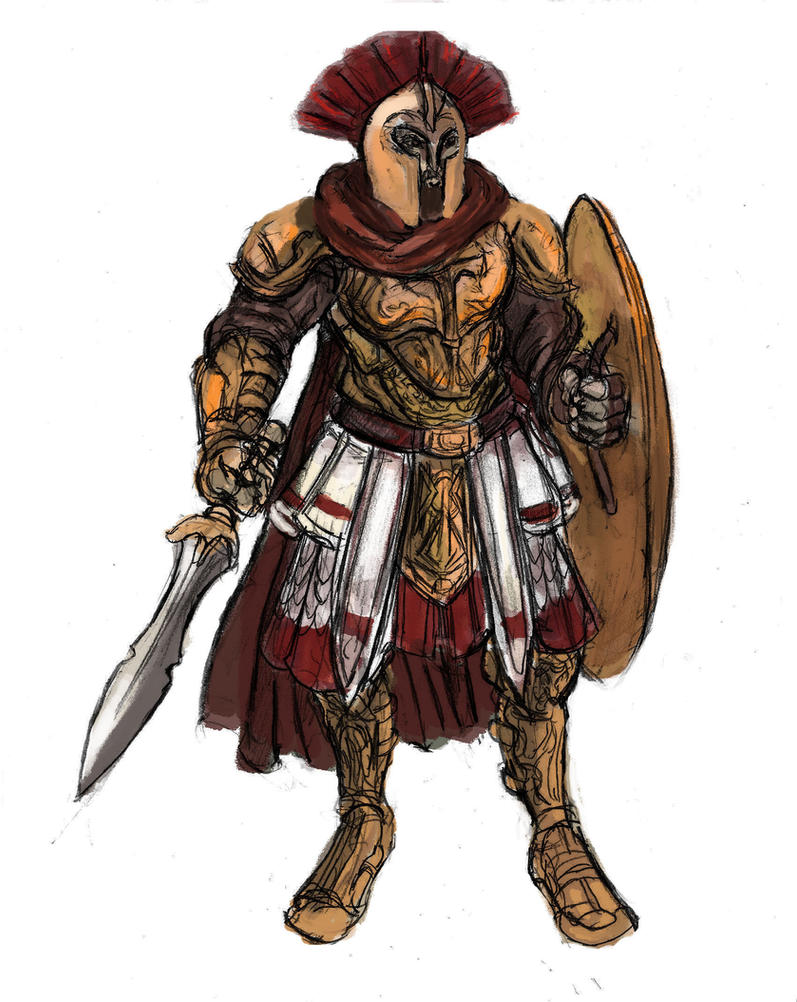 Medieval Spartan Warrior by TheLivingShadow
