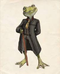 Jerome O'Brien - Gentleman Frog by TheLivingShadow