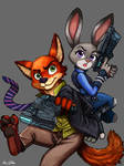 Nick and Judy - ZOOTOPIA/PSYCHOPASS Crossover