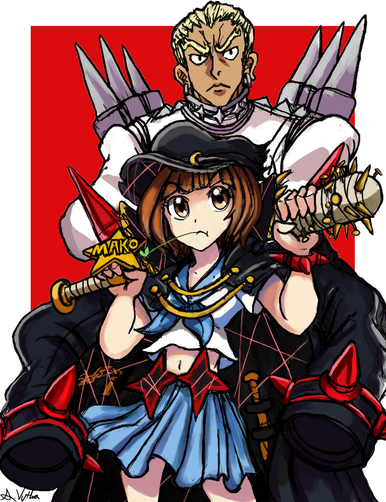 Mako and Gamagori by TheLivingShadow - 522.4KB