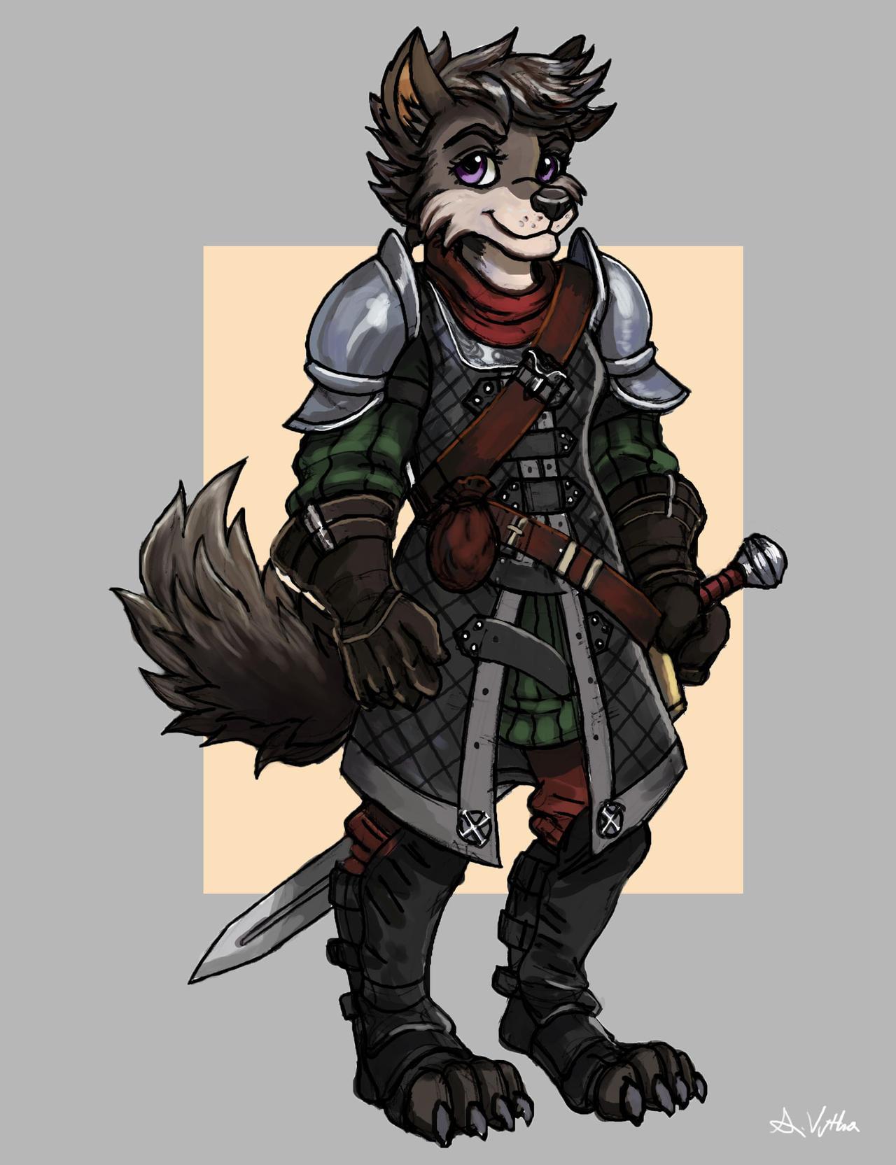 Female wolf furry art