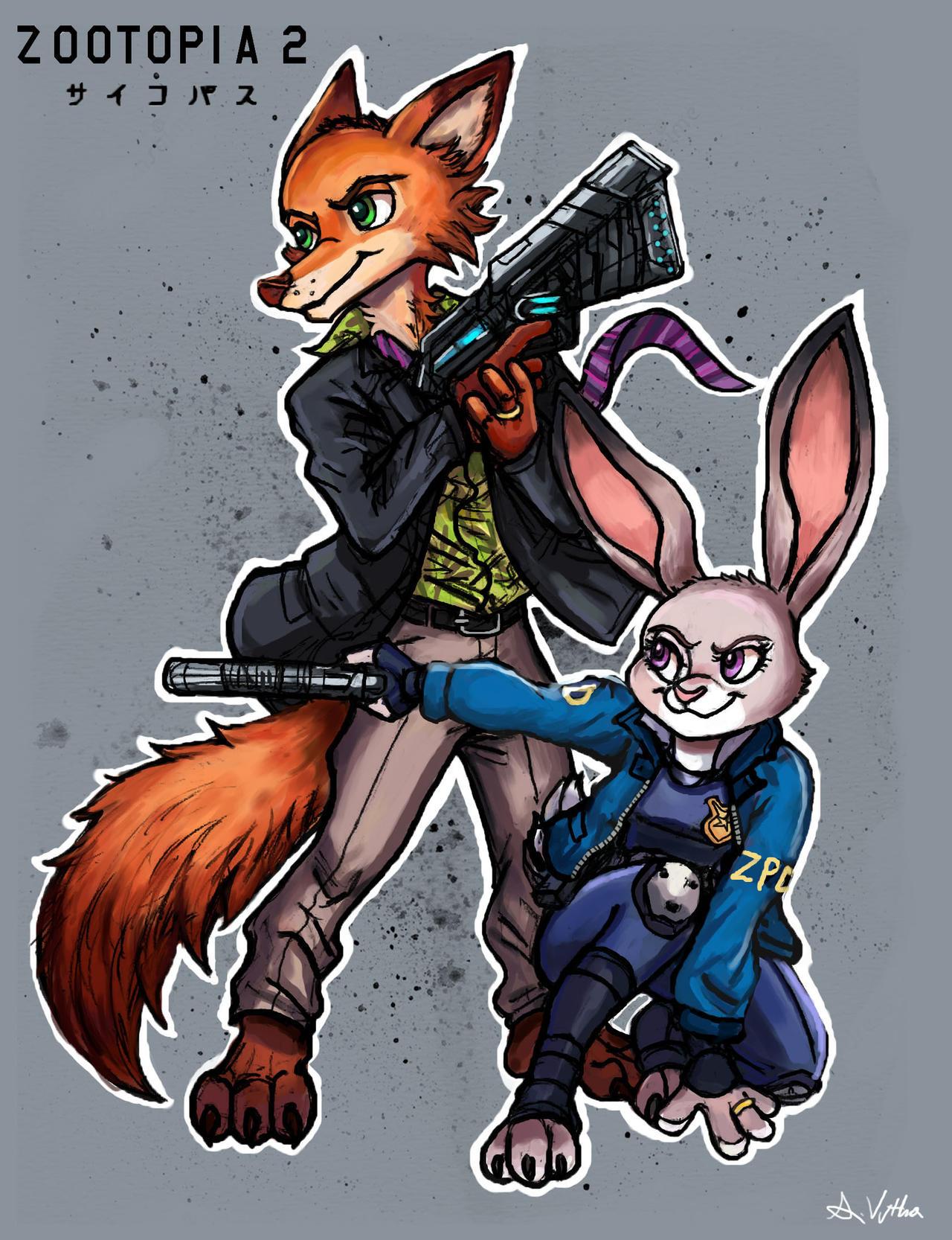 Nick and Judy - Zootopia/Psychopass 02