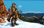Tython the Wolf Samurai - Commission
