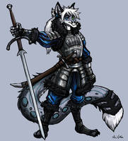 Kiono the Winter Warrior by TheLivingShadow