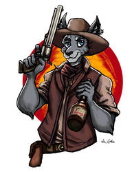 Patches the Gunslinger Cat by TheLivingShadow
