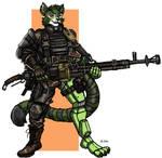Gamma the Machine Gunner - Commission
