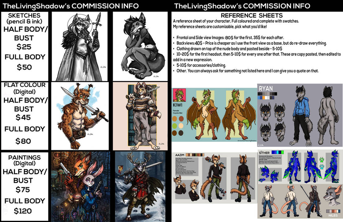 Commission Price Guide - TheLivingShadow