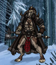 Minotaur Warrior - Commission by TheLivingShadow