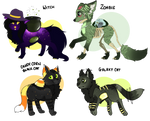 {Auction} Globe animals Halloween designs OPEN by ll-Coffee-ll