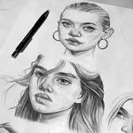 Pencil sketches - Brooke Shields and Gemma Ward