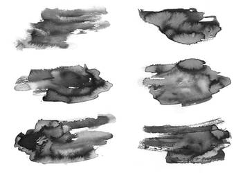 Black and White Ink Textures 5