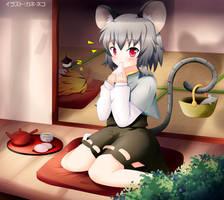 Touhou - Nazrin snack time by KANE-NEKO