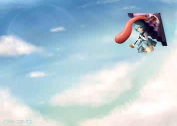 Touhou - Tatara Kogasa in Sky Of Gensokyo by KANE-NEKO