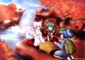 Touhou - Youkai Mountain Shogi Match by KANE-NEKO
